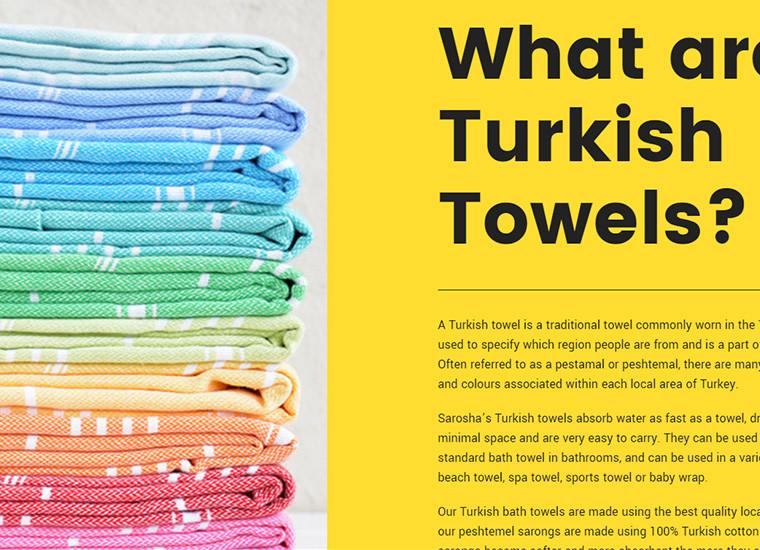 Sarosha Turkish Towels Layout Example