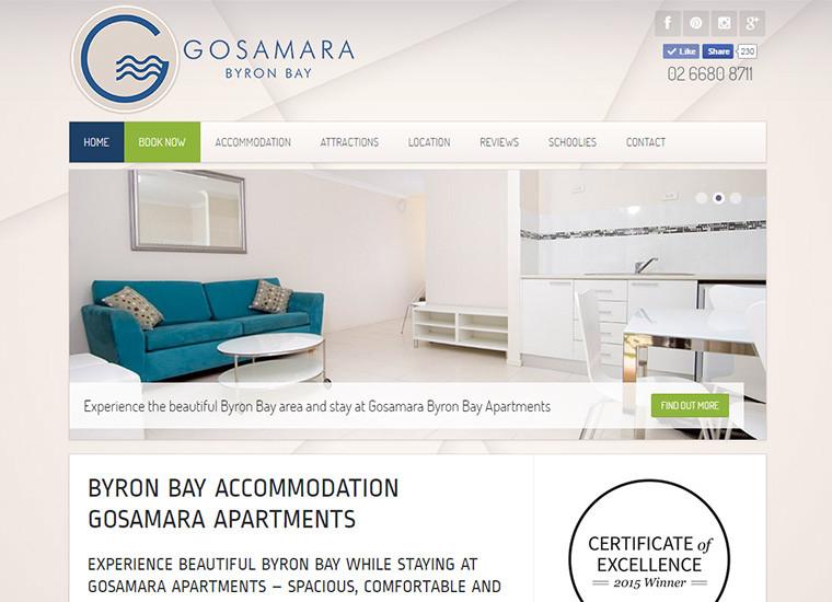 Gosamara Apartments Website Home Page