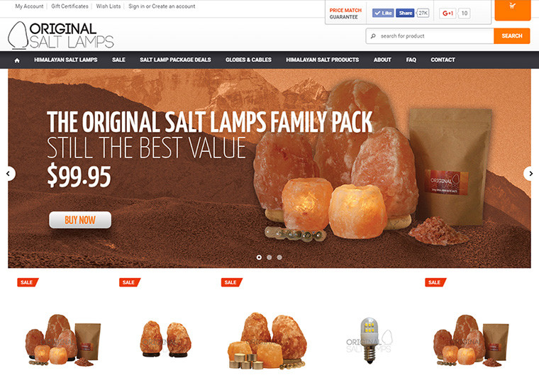 Original Salt Lamps Home Page