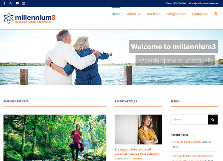 Millennium3 Website Preview