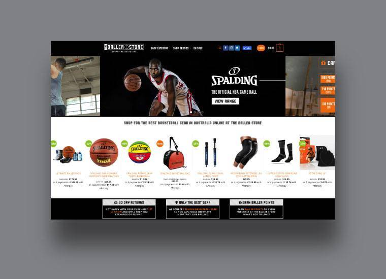 The Baller Store Website