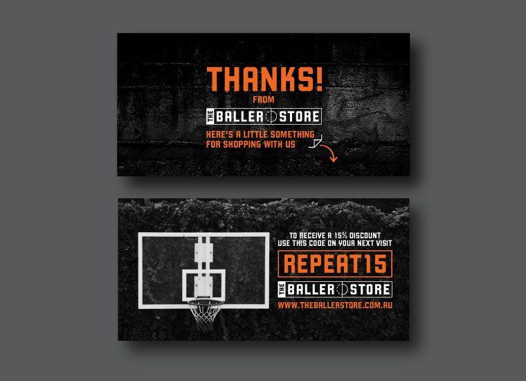The Baller Store Thank You Card