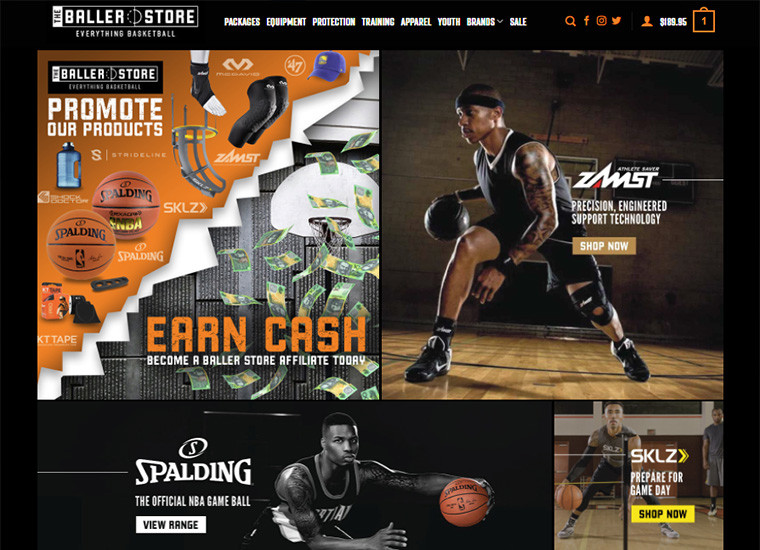 The Baller Store Home Page