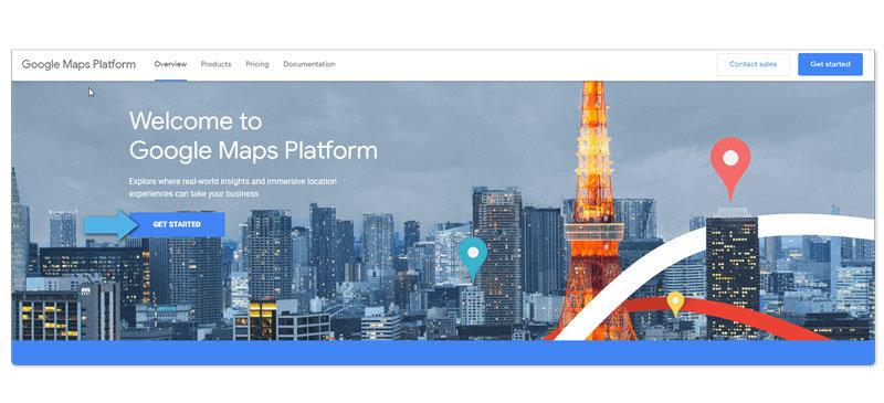 Google Maps API instruction step 1