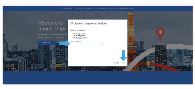 Google Maps API instruction step 3