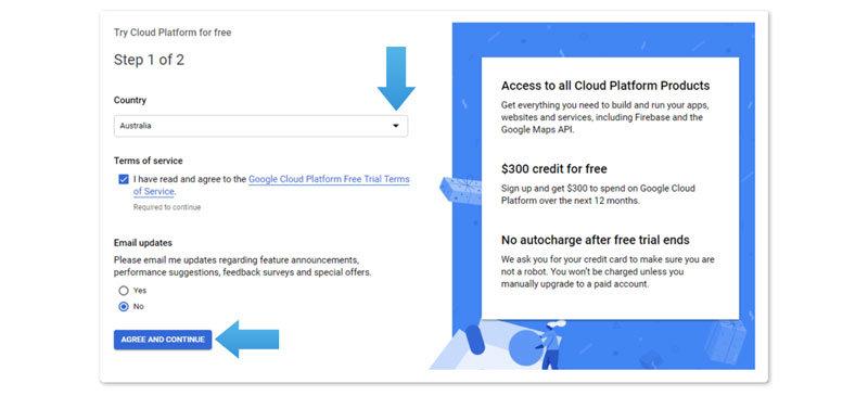 Google Maps API instruction step 5