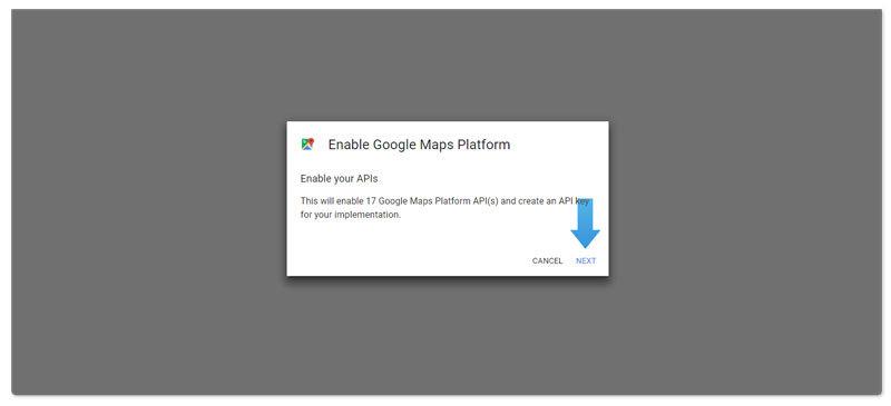 Google Maps API instruction step 6