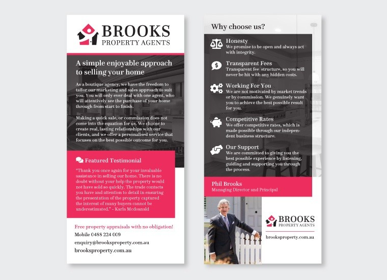 Flyer Design for Brooks Property Agents