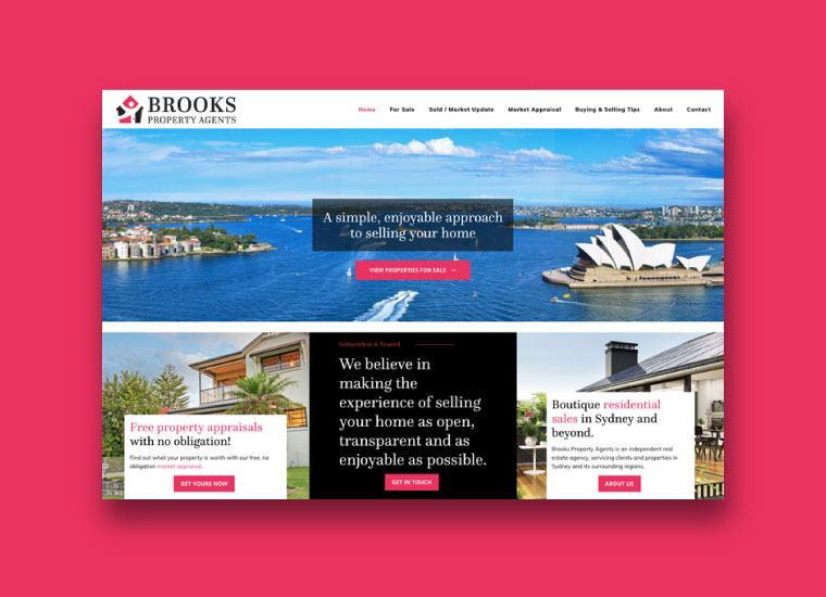 Brooks Property Agents Website