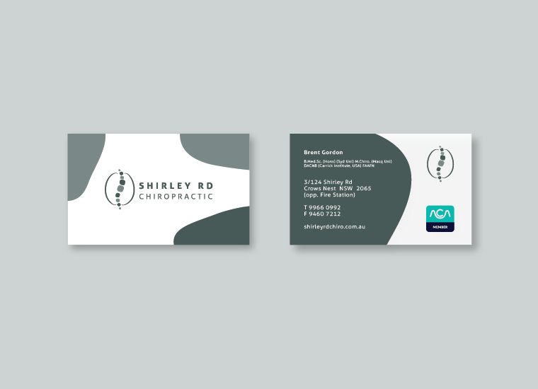 Shirley Rd Chiro Business Card Design